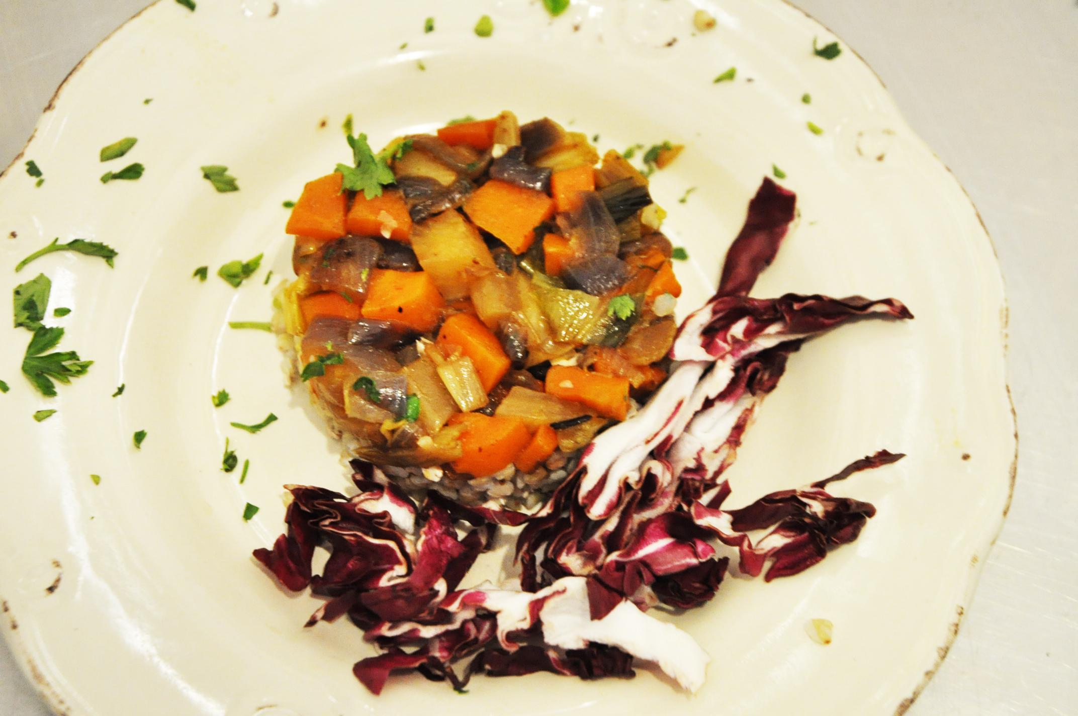 Tortino di couscous alle verdure piccanti