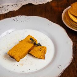 Il Menù - Flan di zucca su fondue formaggi